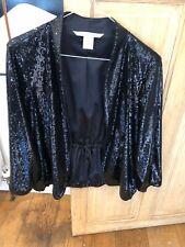 Women's Diane von Furstenberg Black Sequin Jacket