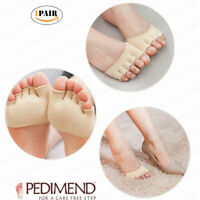 Open-Toed 5 Toe Forefoot Socks Separator Ball of Foot Pain Relief 2PC PEDIMEND