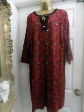 New Ladies CELLBES OF SWEDEN  Red & Black Tunic Dress Plus size 20-22