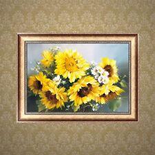 DIY 5D Sunflower Diamond Embroidery Painting Cross Crafts Stitch Kit Home Decor