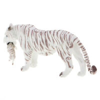 Mountain Wildlife Animal Collectibles White Female Tiger Cub Figure Model