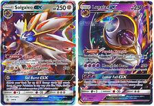 Solgaleo & Lunala GX Legendary Set Ultra Rare Holo Pokemon Cards GENUINE