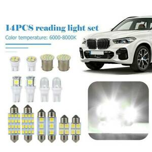 14PCS White LED Lights Interior Package 1157 T10/31/36mm Map Dome License Plate