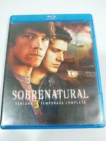 Sobrenatural Tercera Temporada 3 Completa - 3 x Blu-Ray Español Ingles