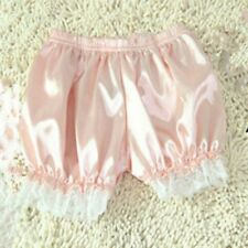 Women Lace Satin Pumpkin Bloomers Underwear Knickers Panties Lolita Shorts White