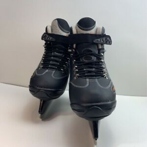 Cougar Mens Ice Hockey Skate Shoes Black Lace Up Adjustable Hook & Loop 10 M