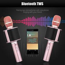 Portable Wireless Bluetooth Mic Car Karaoke Microphone Stereo Surround Speaker