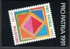 Schweiz Markenheftchen 1446 gestempelt Ausgabetag 14.5.1991 700 Jahre Kunst