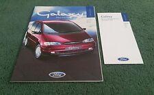 1996 FORD GALAXY 1996 Edition 1 UK BROCHURE + JANUARY 1996 PRICE LIST
