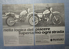 MOTOSPRINT982-PUBBLICITA'/ADVERTISING-1982- SUZUKI DR 400 S + DR 500 S