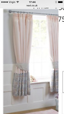 NEXT Little Blossom Pink Black Out Pencil Pleat Curtains 168(W)x137(L)cm RRP £65