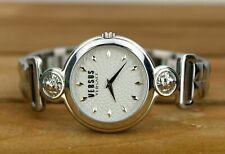 Versace Versus Uhr Armbanduhr Damen silberfarben Löwe Nieten Box & Zertifikat