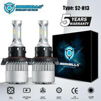 H13 9008  LED Headlight Conversion Kit 2000W 300000LM HI-LO Beam Bulbs 6000K