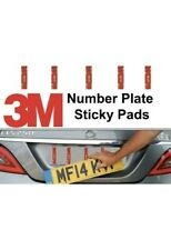 5 X Number Plates 90mm X 15mm Sticky Pads Car Plates - No More Nails