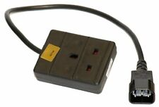 Power cable - IEC C14 plug - 13A socket - 25 cm - stage / DJ / UPS equipment