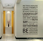 Family House Rules stickers wall Decal Removable Art Vinyl Decor Home Kids Au