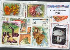 50 verschiedene Briefmarken mit  Pilze , Pilzen , Mushrooms