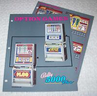 BALLY 5000 PLUS OPTION GAMES ORIGINAL CASINO SLOT MACHINE PROMO FLYER 1988