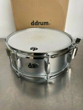 """Ddrum Silver Sparkle D2 Snare Drum 14 X 5.5"""" w/ Chrome Hardware 8 Lugs USED"""