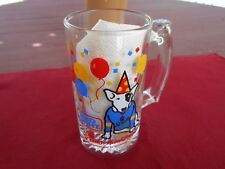 "Vintage 1987 Bud Light Spuds MacKenzie Heavy Weighted 5"" Glass Beer Mug"