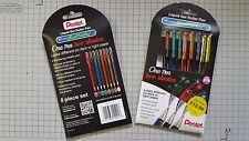 Pentel Dual Metallic Gel Pen 8 Pack Wallet Assorted - FAST and FREE Postage