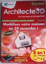 """""""Architecte 3D EXPRESS 2013"""" (Conception/Aménagement/Rénovation/Décoration) NEUF"""