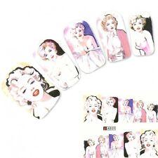 UNGHIE Sticker Adesivi Marilyn Monroe NAIL ART UNGHIE PIEDI Water Decal