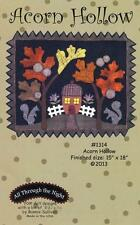 Acorn Hollow Squirrel Home Leaf Autumn Wool Pattern All Through the Night