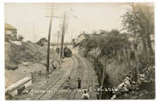 RPPC NY New York Central Railroad Train Tunnel Under Erie Canal