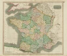 """""""France in provinces"""", before the Revolution, w/o Savoy & Nice. THOMSON 1817 map"""