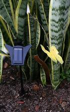 Solar Butterfly,Solar Powered Flickering Flickering Yellow Butterfly on Stick