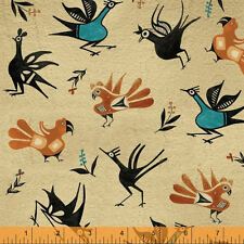 FABRIC TRADING POST- NATIVE BIRD 41207 4 -BY THE  YARD-100% COTTON-SOUTHWEST
