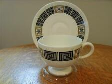 Wedgwood Black Asia bone china  Leigh cup and saucer