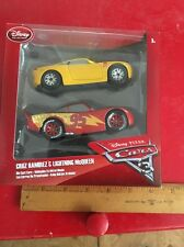 Disney Store Pixar Cars 3 Twin Pack Lightning McQueen & Cruz Ramirez 1:43 Scale