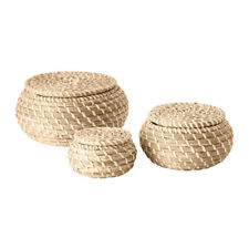 Ikea Fryken Seagrass Box with lid - Set of 3