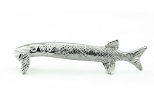FISH FRENCH PEWTER KNIFE RESTS, SET OF 4