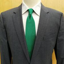 Hugo Boss The James4/Sharp6 Super 100 Tesse Biella Slate Windowpane Suit 42R EUC