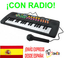 Piano electronico Infantil Microfono Radio Educativo 37 Teclas Juguete Niño Niña