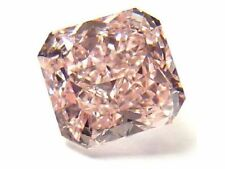 0.20ct Pink Diamond - Natural Loose Fancy Orangy Pink Color GIA Radiant SI1