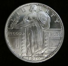 1 oz -1916 Standing Liberty silver round .999 pure One Troy Ounce - B.U.GEMS
