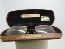 Vintage Orthogon Soft Lite Wire Rim Eyeglasses, 1/10 12kt GF. In Case. Pre 1950'