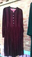 Sahara Borgoña Velvet Dress L Arty/en Capas/bohemio/Hippy/Gitano