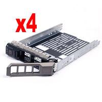 """4PCS New 3.5"""" SAS SATA Hard Drives Tray Caddy for Dell PowerEdge R410 US Seller"""