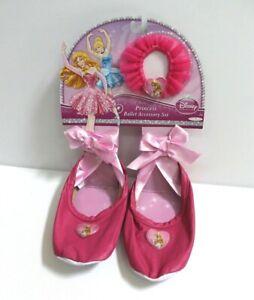 Disney Princess Sleeping Beauty Ballet Slippers & Hair Tie Accessory Set