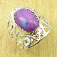 Purple Copper Turquiose Ring Size US 8.75 ! Silver Plated Jewelry ONLINE STORE