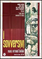 I SOVVERSIVI MANIFESTO CINEMA CASARO TAVIANI LUCIO DALLA 1967 MOVIE POSTER 4F