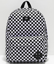 Vans Medium Unisex White Checker Old Skool II Backpack Bag - Water Repellent