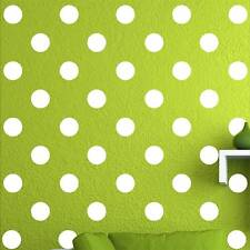 """100 of 3"""" White Polka Dots Circle Removable Peel Stick Wall Vinyl Decal Sticker"""