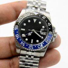 bliger Black Dial Luminous Ceramic Bezel Mechanical GMT Automatic Mens Watch