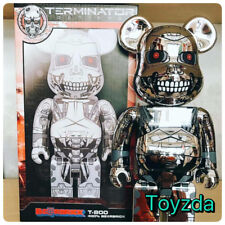 Medicom 2016 Terminator Genysis T-800 Chrome Silver 400% Be@rbrick Bearbrick